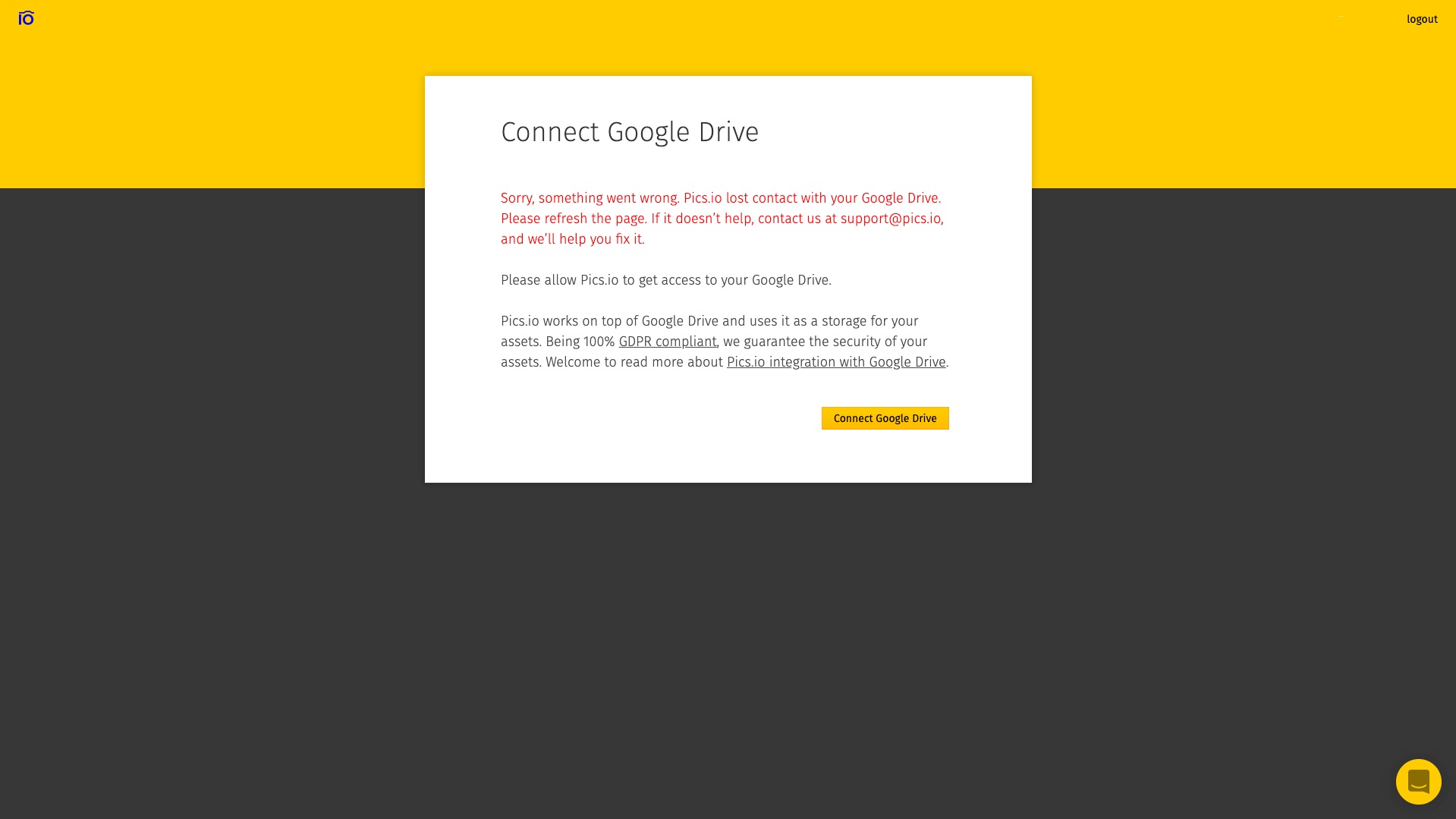 Connecting Google Drive