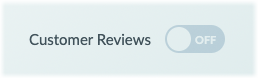 The Customer Reviews switch