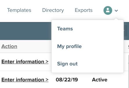 Citygrows profile icon drop down