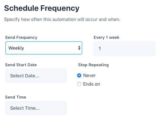 schedule frequency
