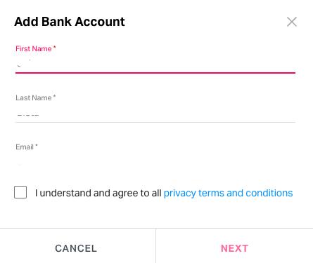 Adding bank account to Fyle