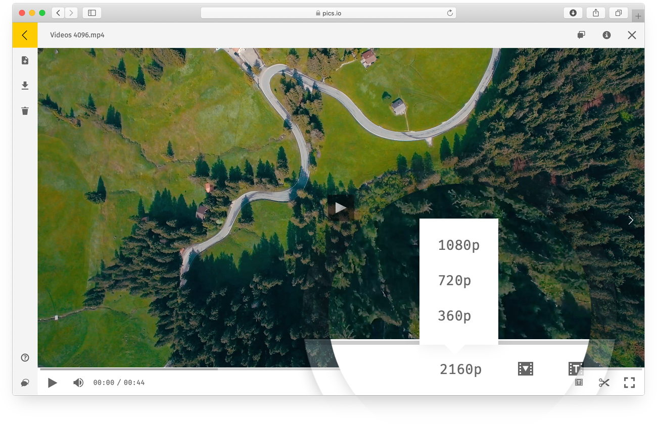 Working with video files in Pics.io