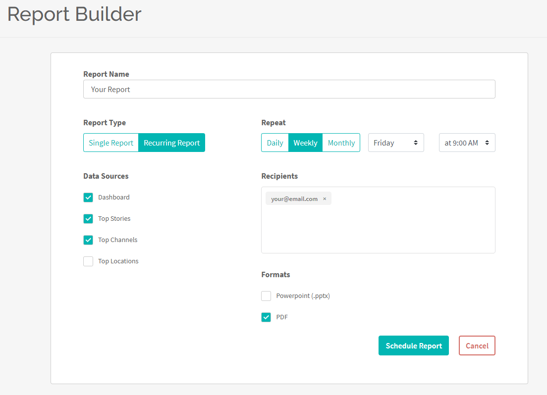 report builder feature