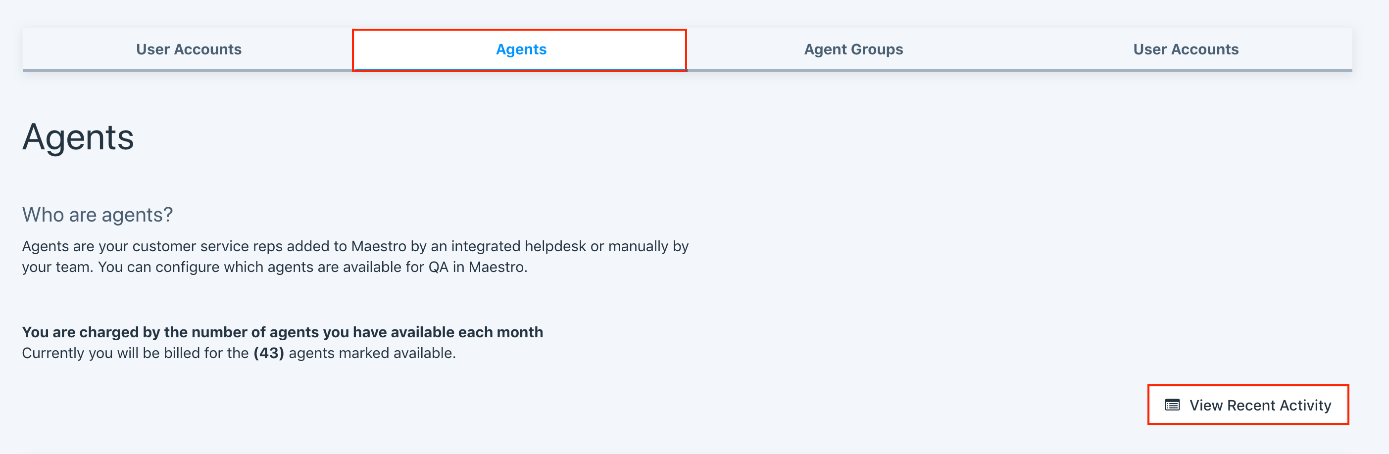 agents page