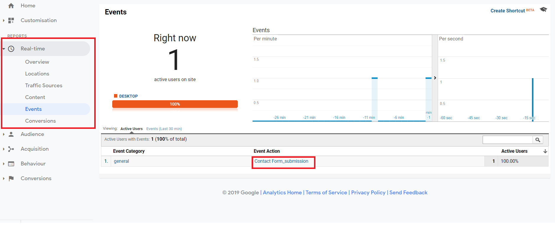Add Google Analytics Code to Form - analytics