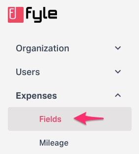 Expense field in settings
