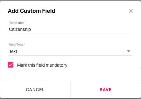 enter custom field details