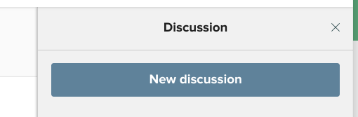 CityGrows New discussion button