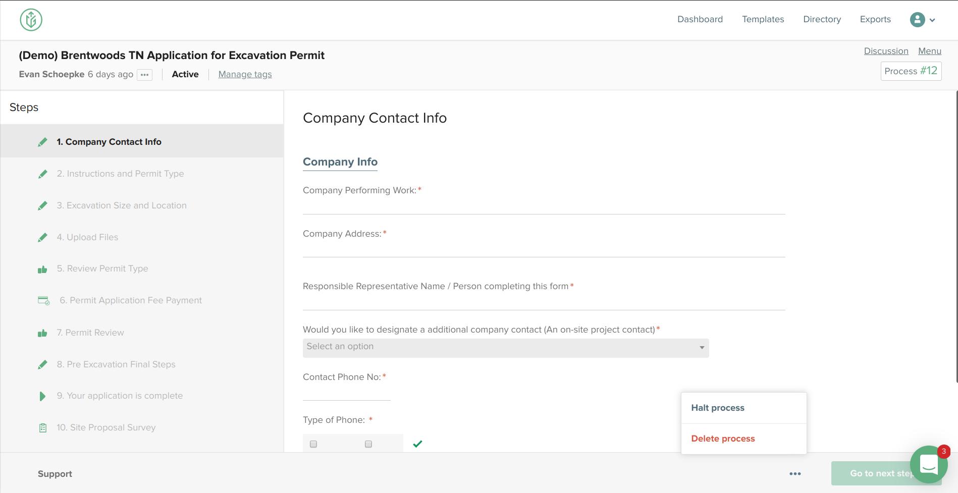 Completed Workflow Halt/Delete Process option