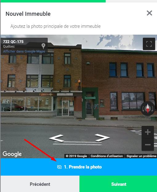 prendre une photo de votre immeuble