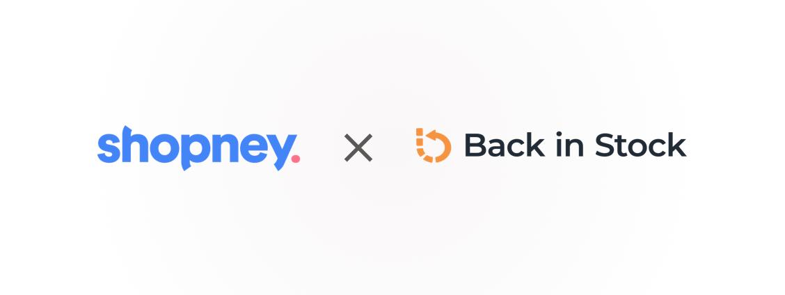 Back in stock & Shopney Logos