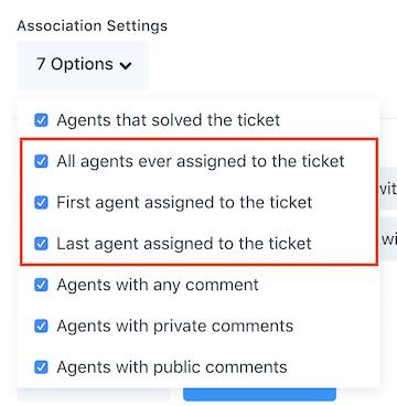 agent association settings