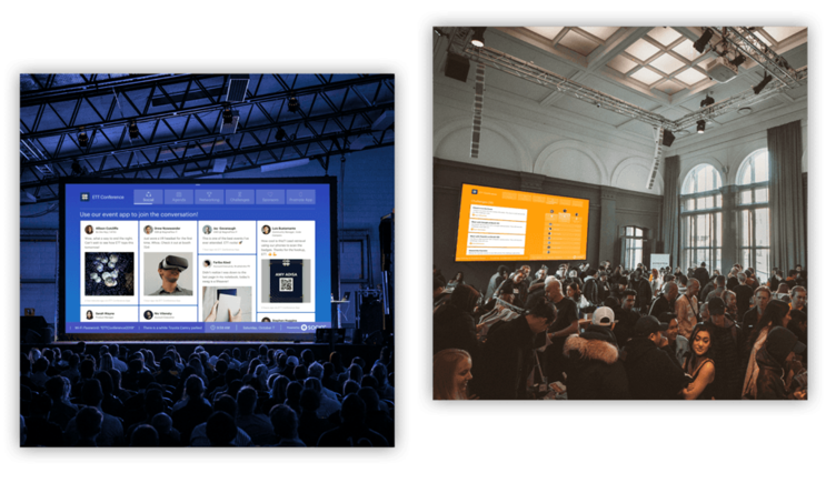Images of the Live Display being used at in-person events.