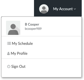The My Account tab of a Customer Login Profile
