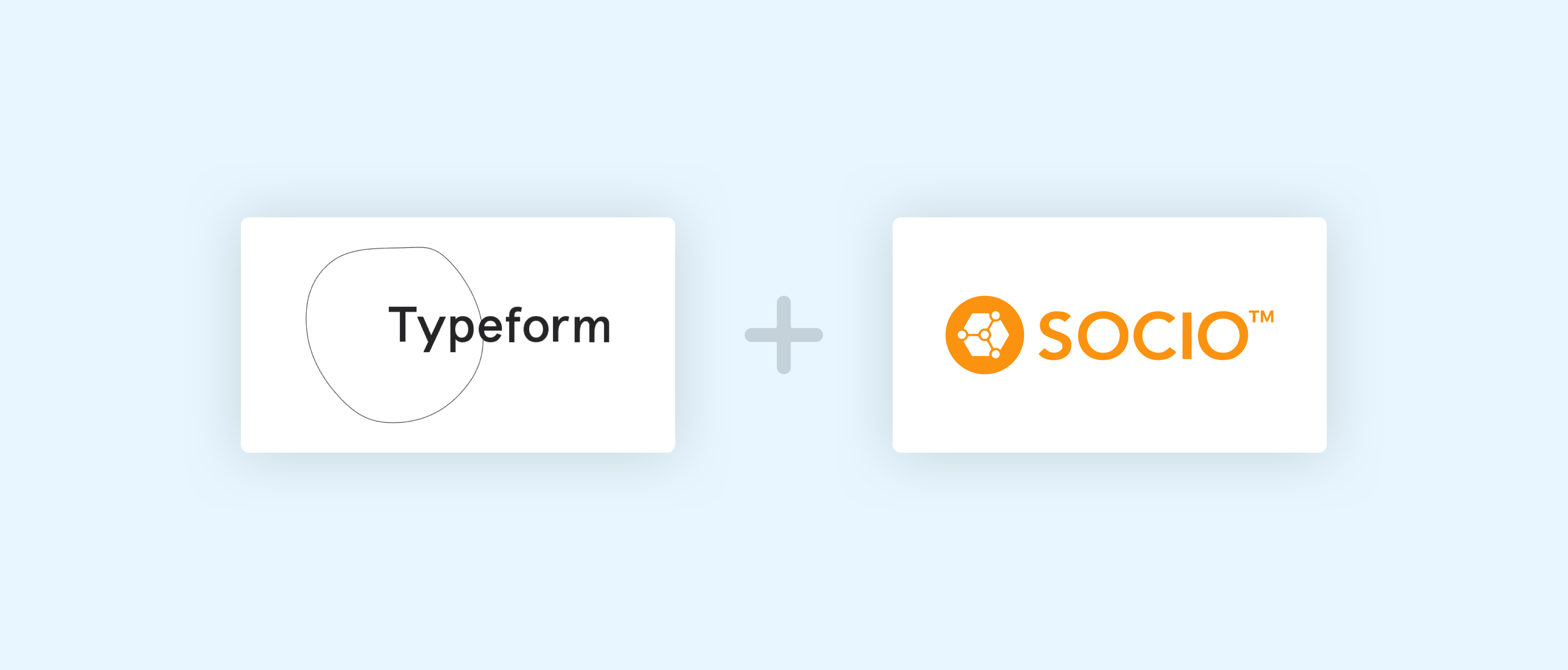 Image of the Typeform and Socio logos side by side.