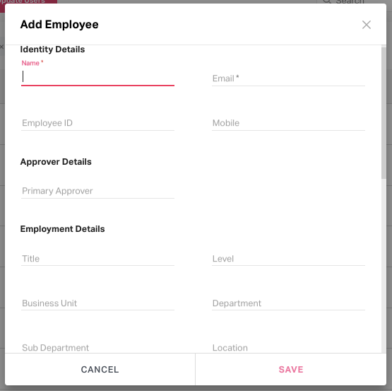 form to add employees