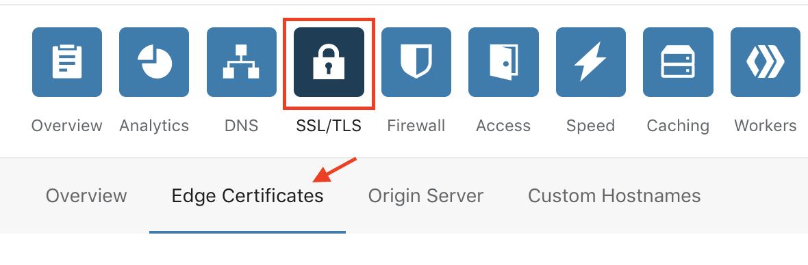 vào mục ssl/tls trong cấu hình cloudflare