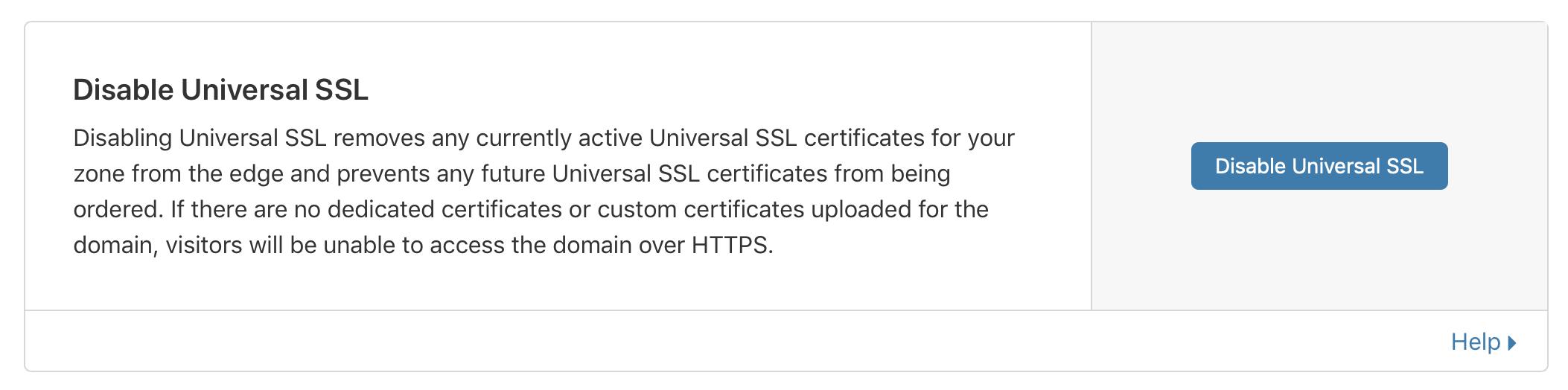 kích hoạt lại universal ssl để sửa lỗi ERR_SSL_VERSION_OR_CIPHER_MISMATCH