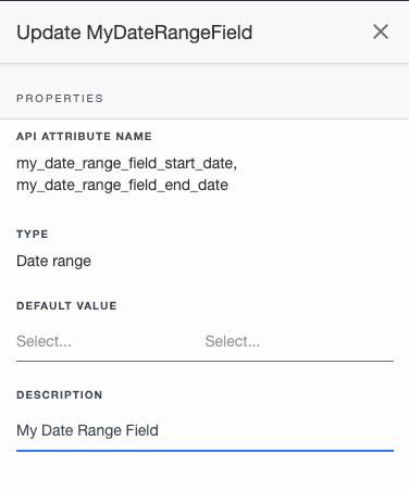 Ardoq update date range field