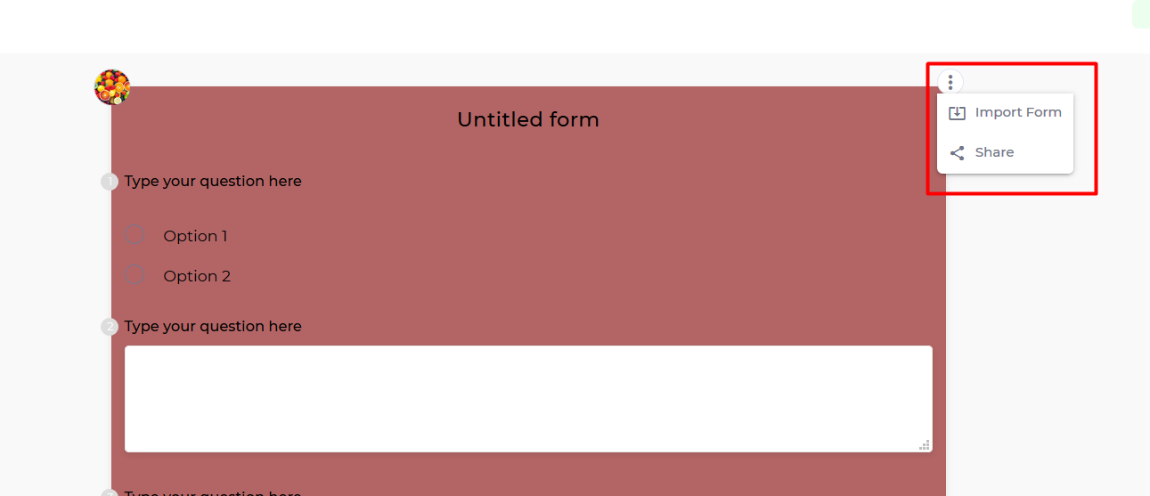 Import a Form to Use