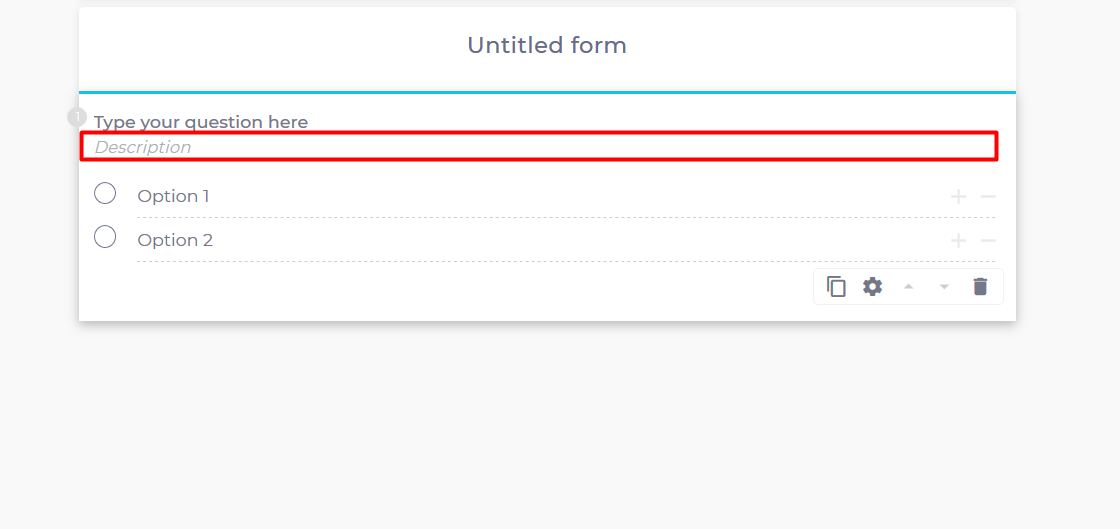 How to add a description to your question field?