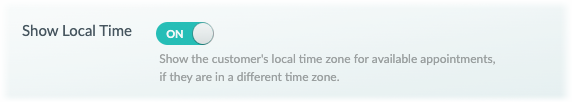 Enabling Customer's Local Time switch in the web app