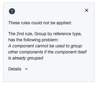 Ardoq grouping errors