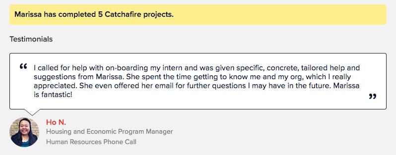 Example of Volunteer Testimonial