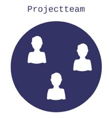 Icoon van het projectteam