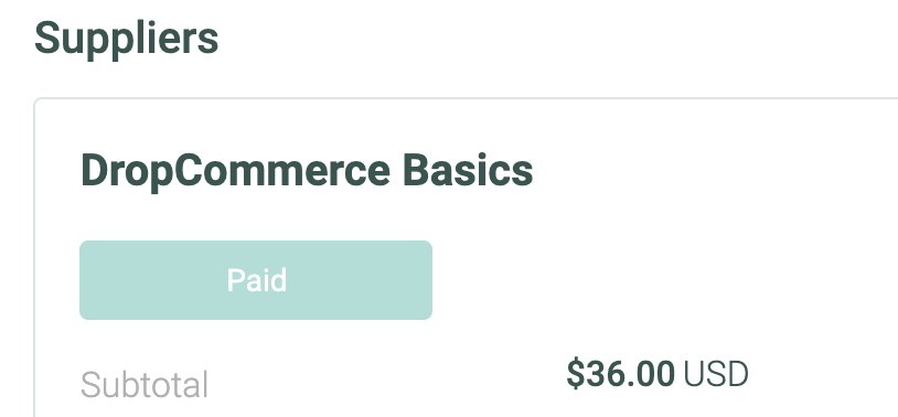 DropCommerce Basics