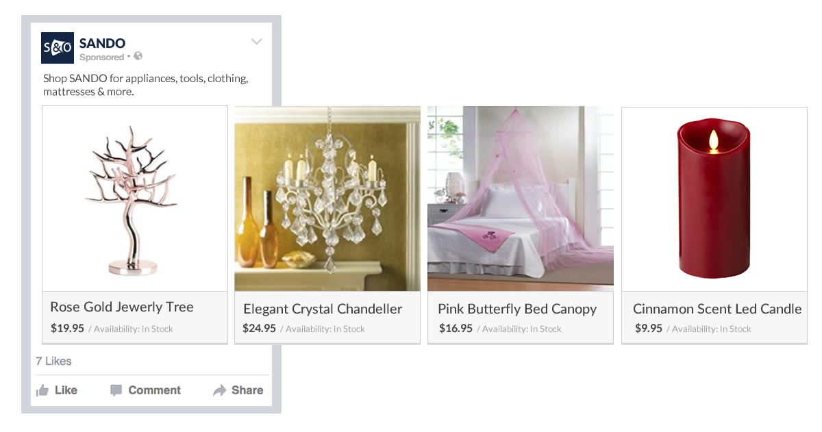 Facebook Product Ads