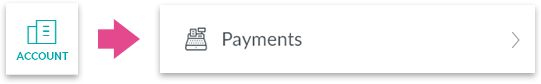 Tapping Payments under Account tab