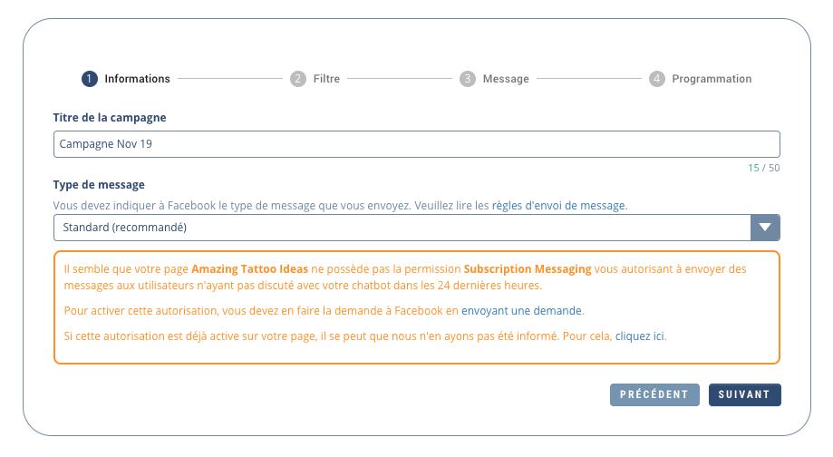 Créer un Chatbot Facebook
