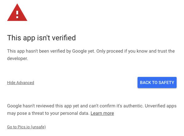 Non-verified app