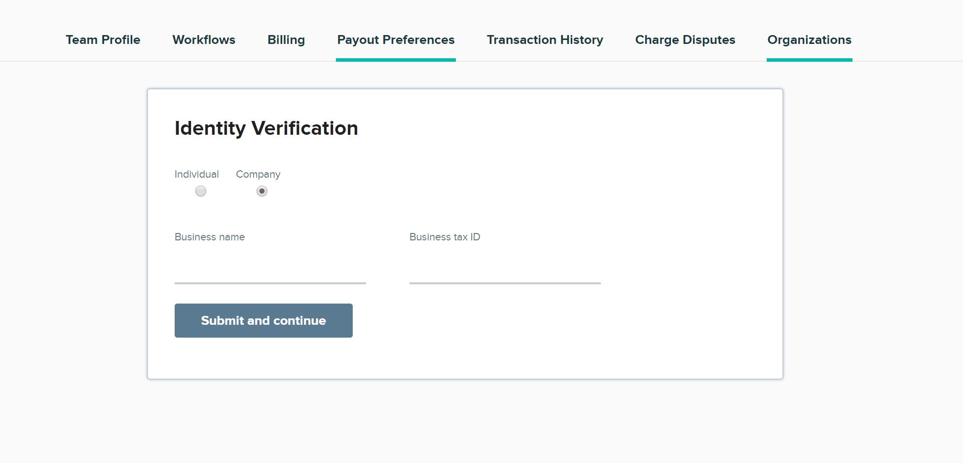 CityGrows Identity Verification page