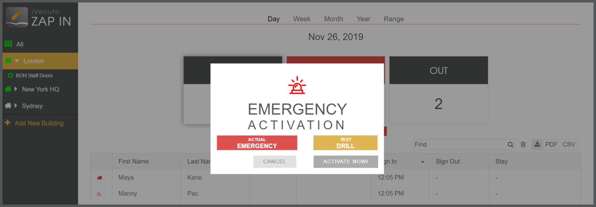 zap emergency mode