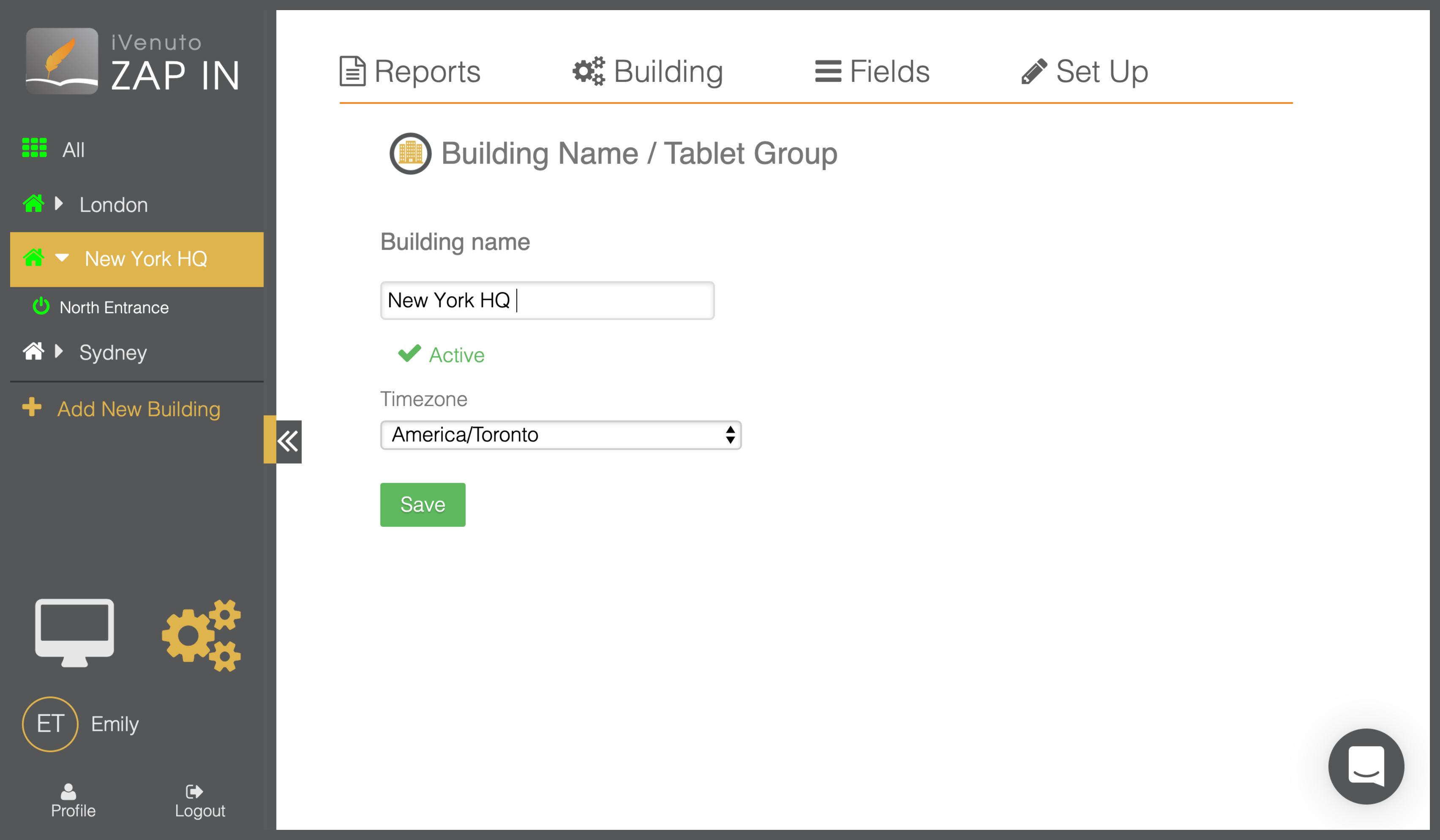 visitor management platform add building