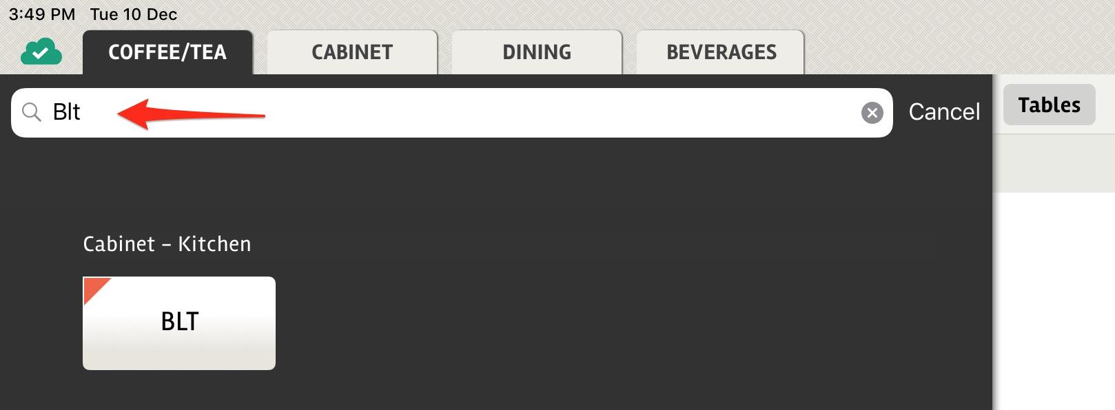 posBoss - Enter item details for search