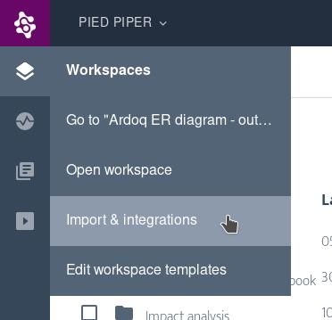 Ardoq import and integrations