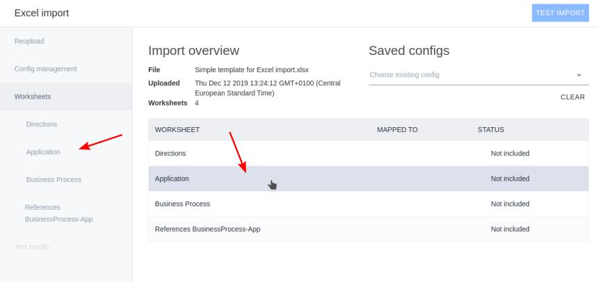 Ardoq configure Excel import