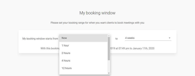 Meetfox booking window