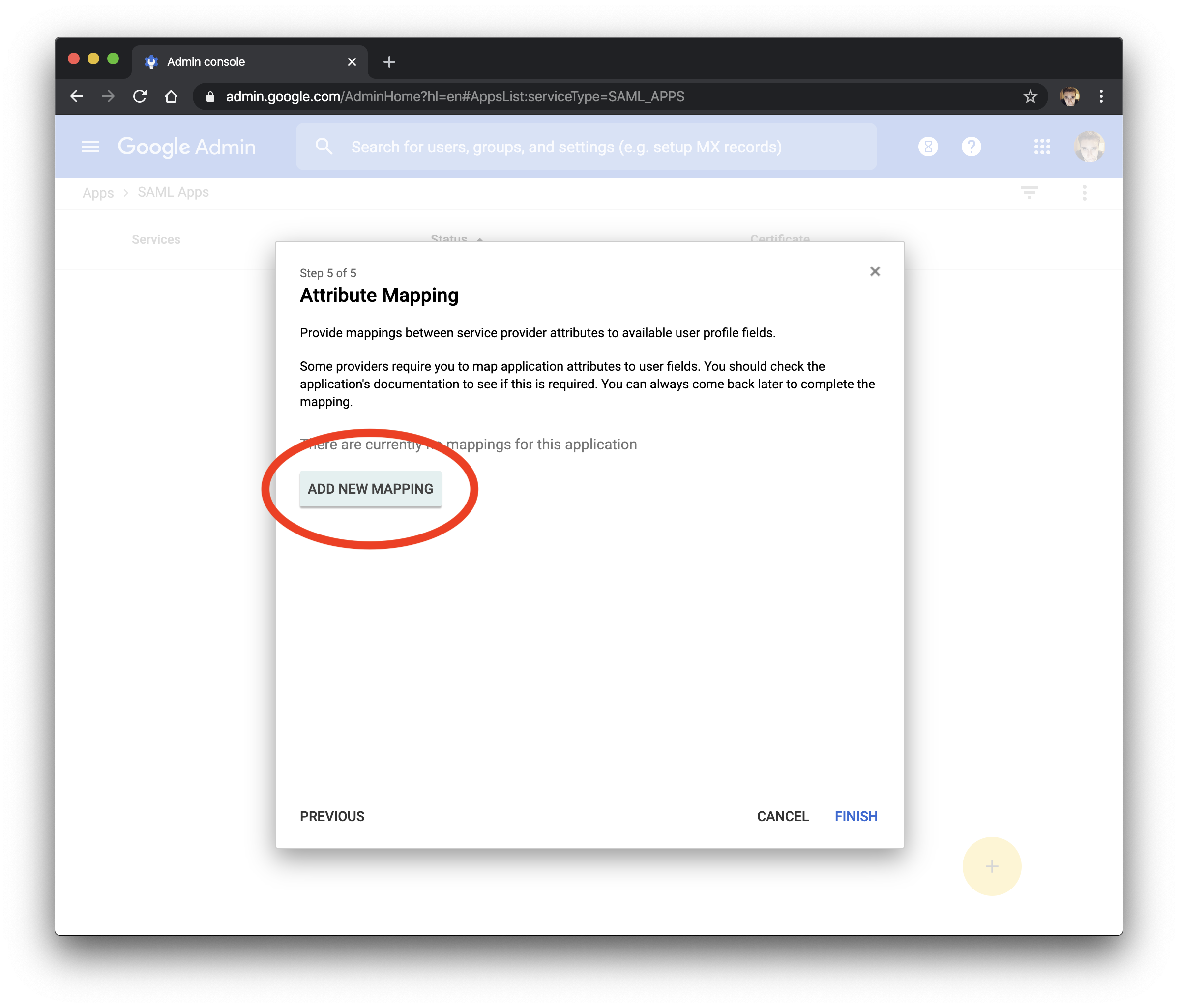 Add new mapping in G Suite