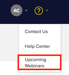 How to join browse our Upcoming Webinars on the site