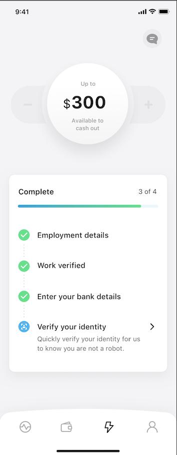 Cheq - verify your identity step 1