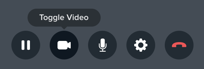 The Toggle Video button