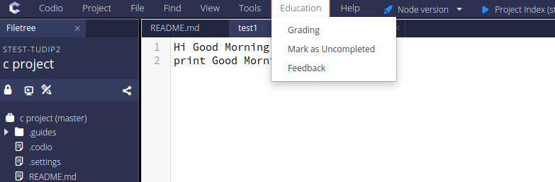 Also, teacher can add/modify grade and comment from inside the IDE by opening the student's project.