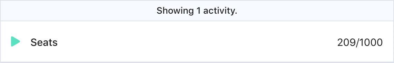 A screenshot of an activity called
