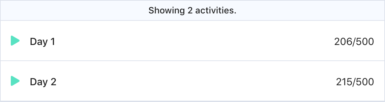 A screenshot of 2 activities:
