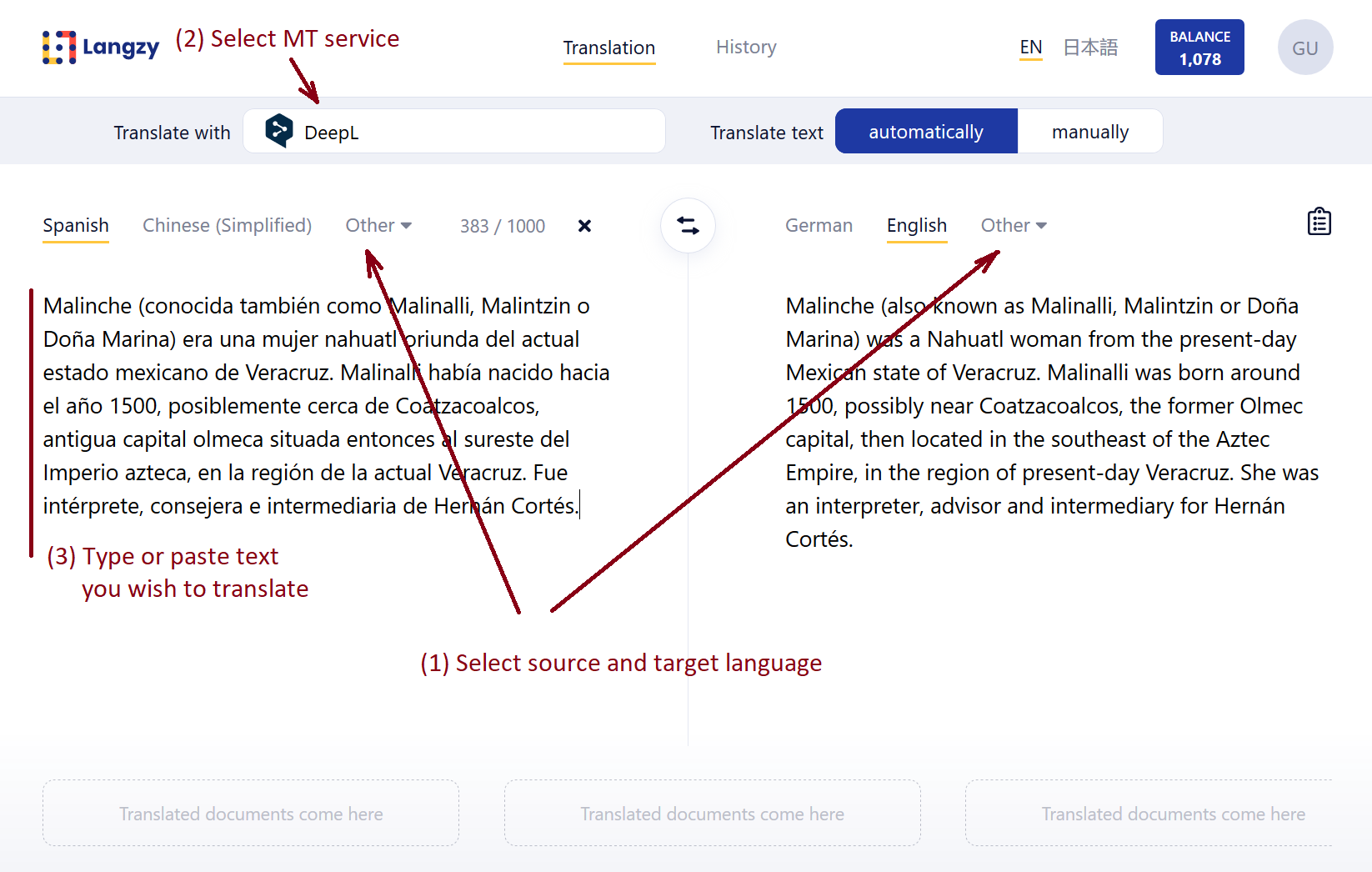 How you can translate with Langzy in three easy steps