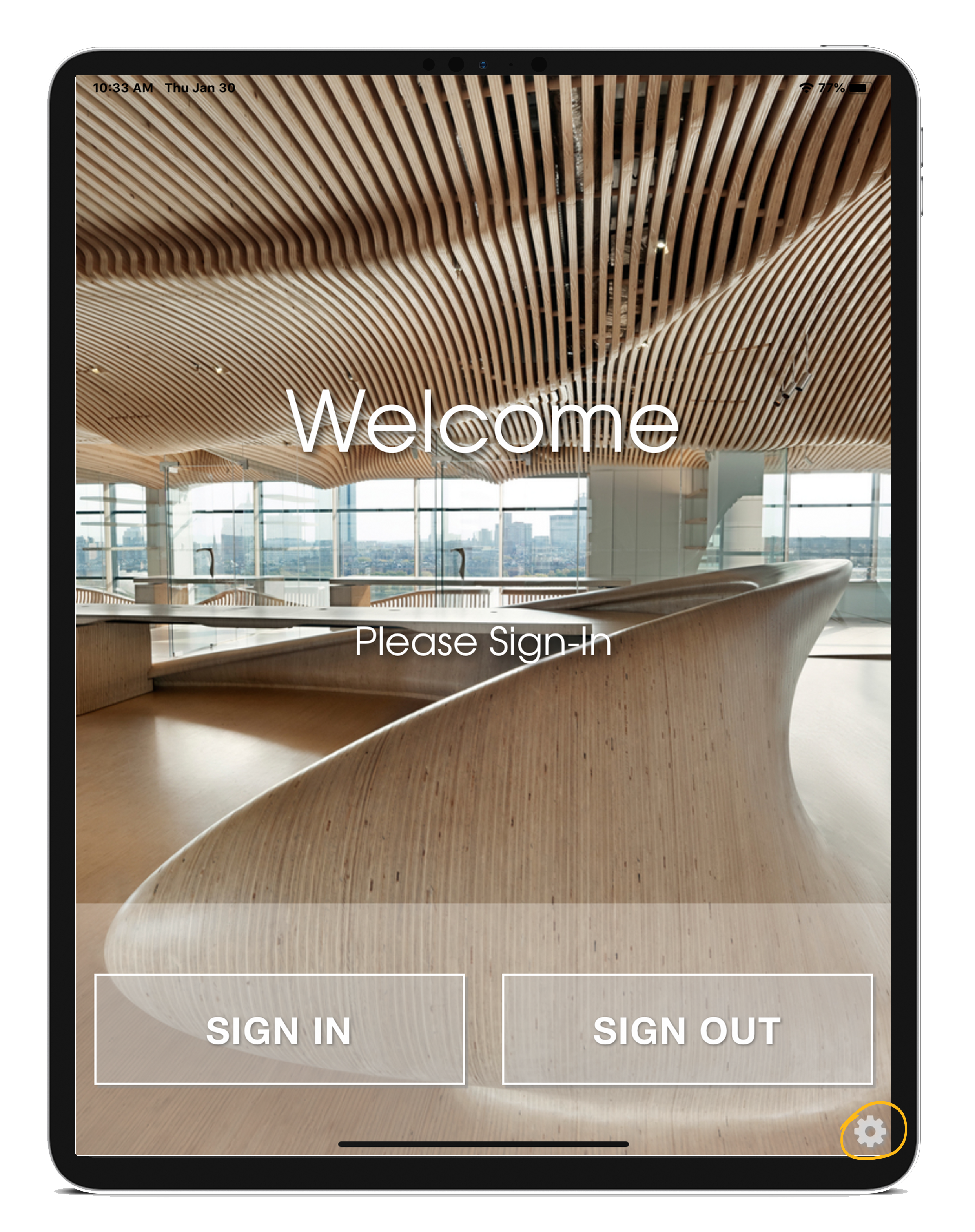 best visitor management system ipad logout